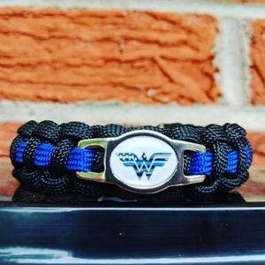 Jewelry - Wonderwoman Police Officer Paracord Bracelet